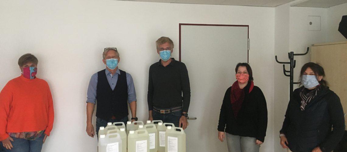 web-Übergabe Desinfektionsmittel an RO
